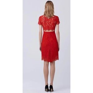 NWT Diane Von Furstenberg Red Lace Dress 2
